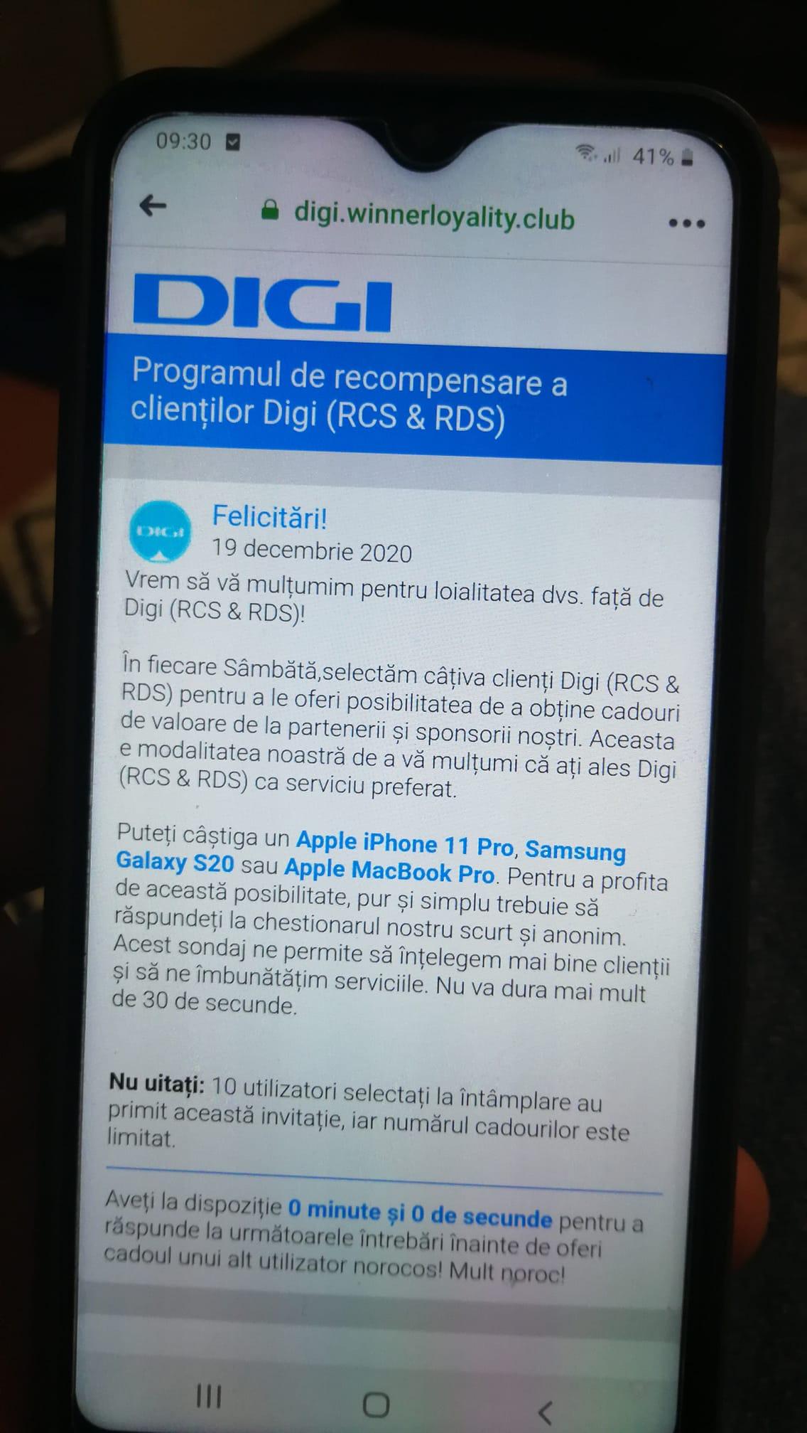 RCS & RDS pericol frauda