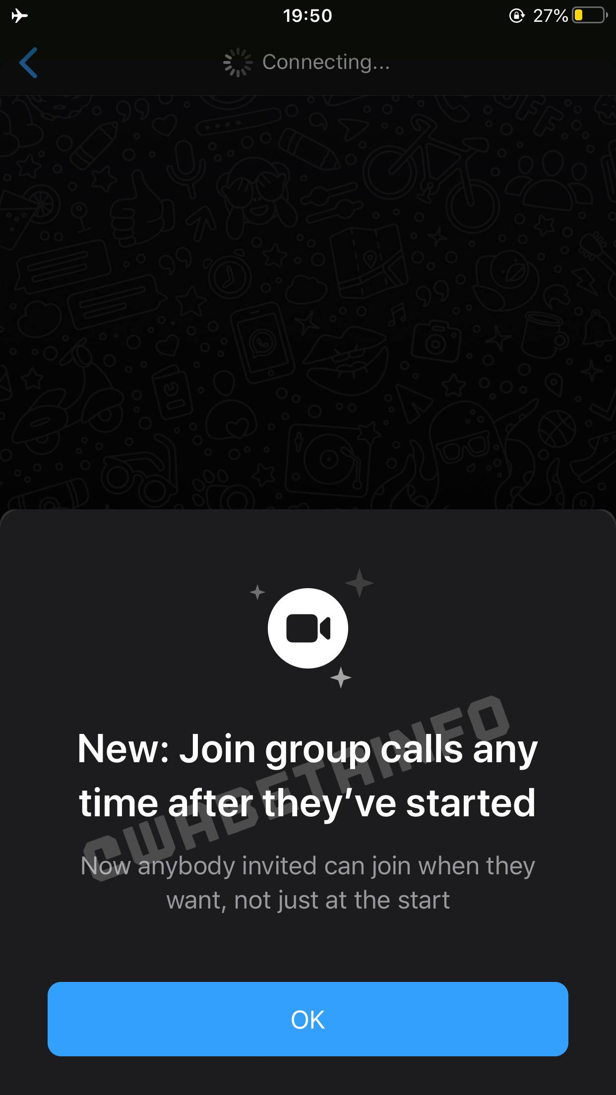 WhatsApp participare apeluri grup