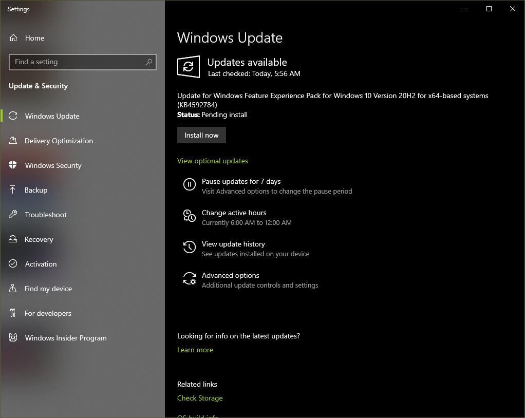 Windows 10 experienta pachet