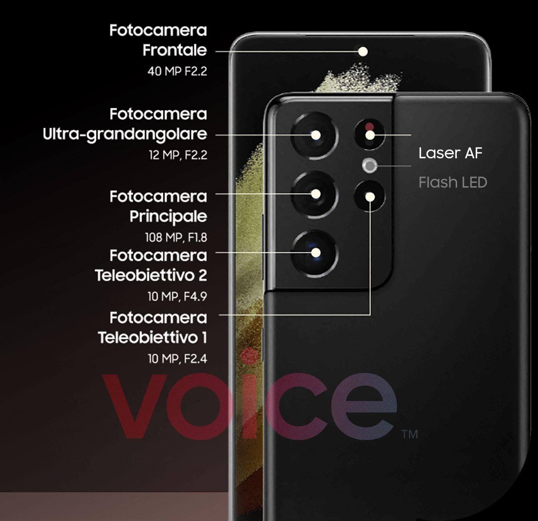 Camerele Samsung GALAXY S21 Ultra Specificatii