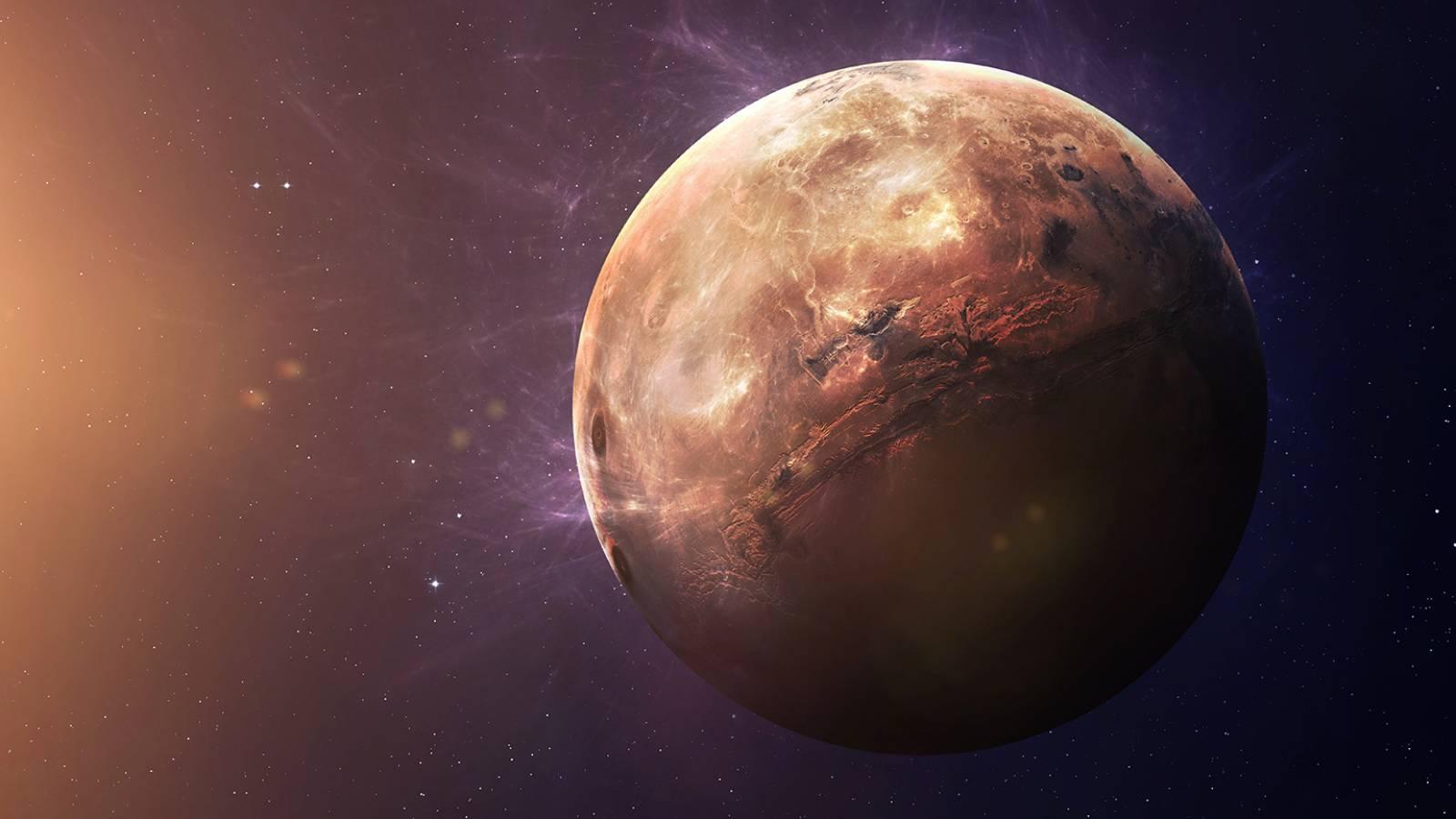 Planeta Mercur coada