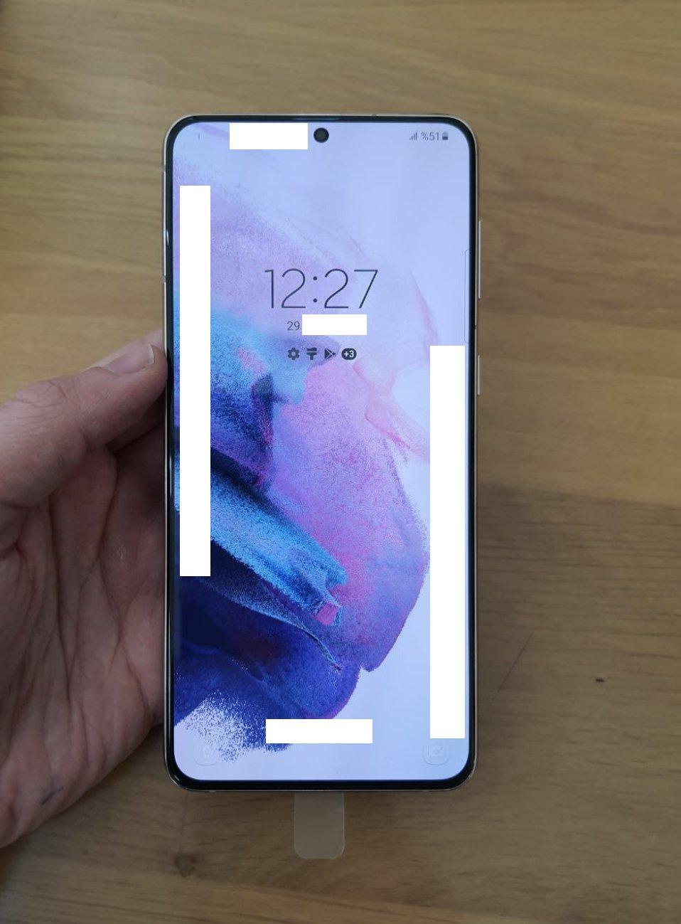 Imagini frontale Samsung GALAXY S21 Plus