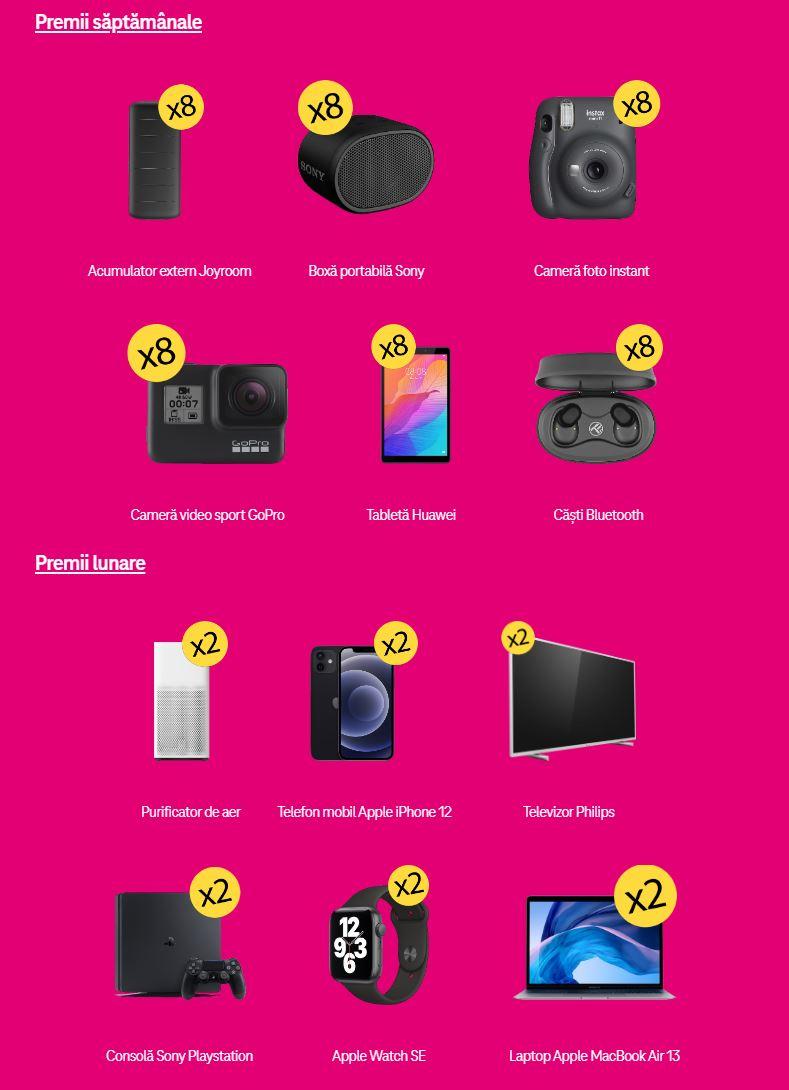 Telekom saptamanal premii