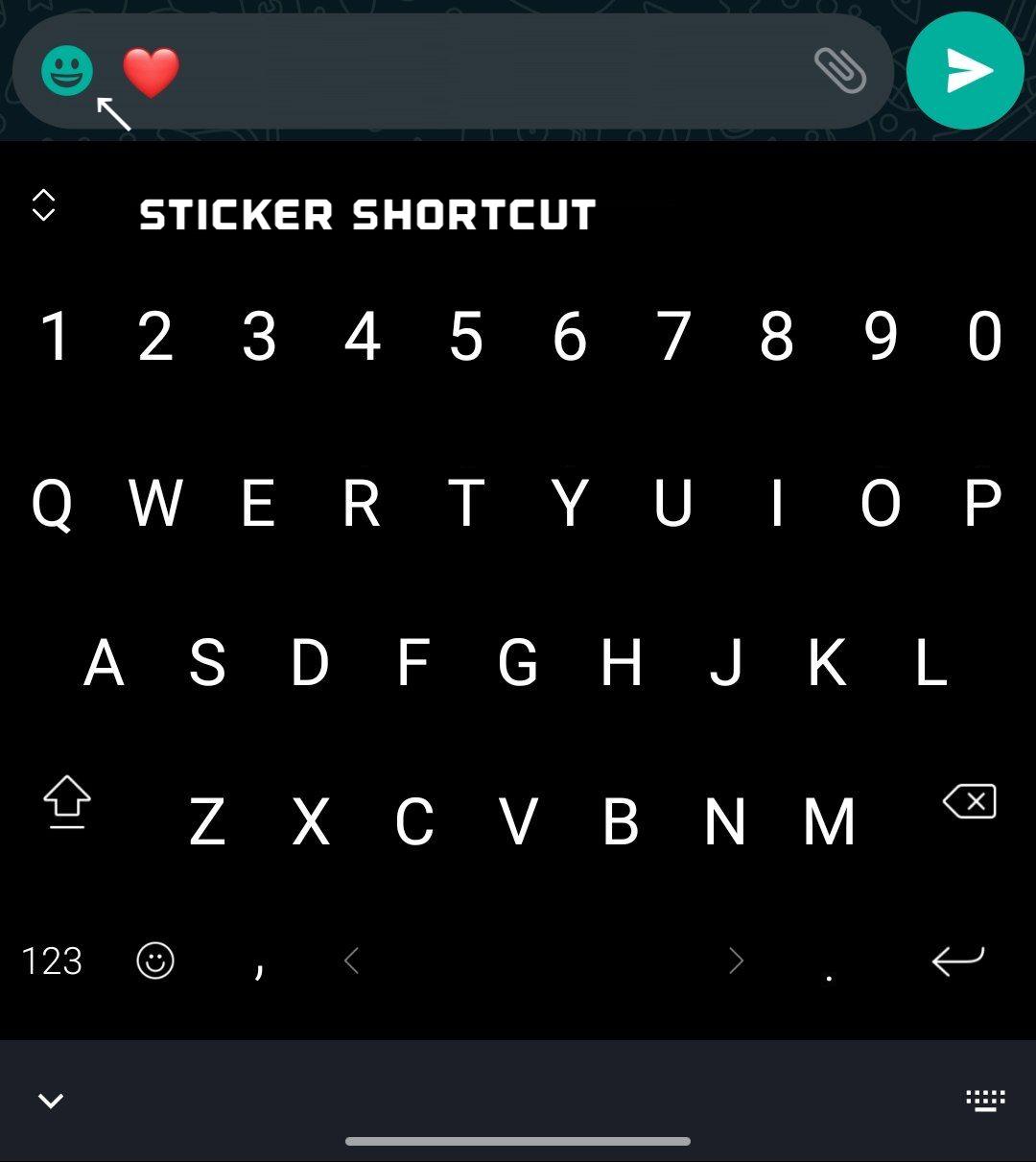 WhatsApp scurtare stickere