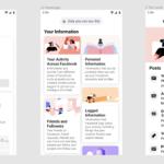 facebook sectiune informatii activitate aplicatii