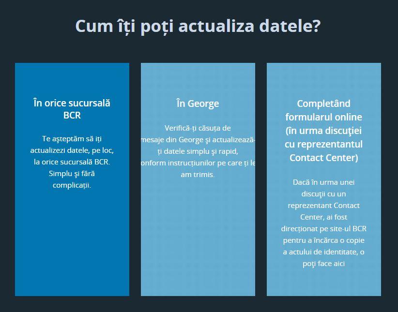 BCR Romania perseverenta actualizare