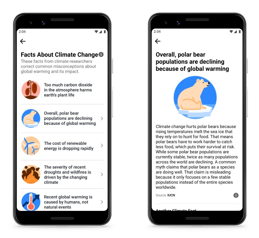 Facebook mituri incalzire globala date