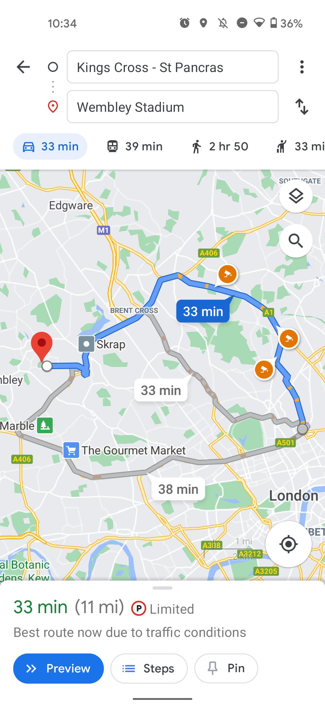 Google Maps Schimbare de interfata pentru navigarea ghidata poza 2