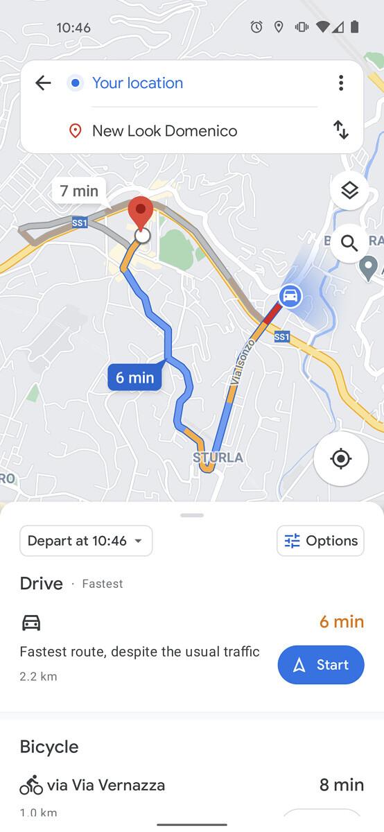 Google Maps Schimbare de interfata pentru navigarea ghidata poza