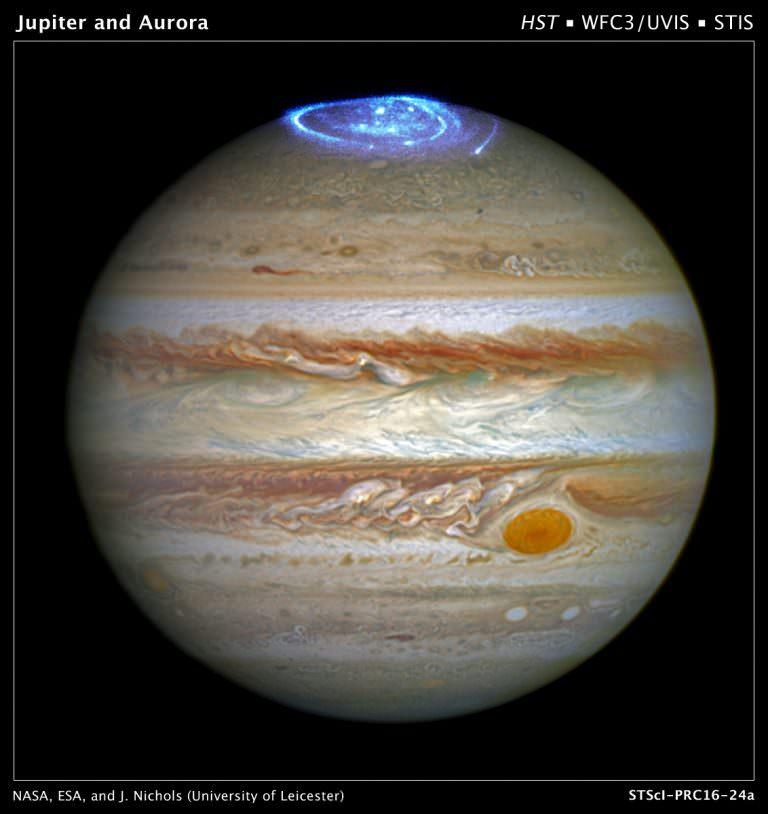 Planeta Jupiter explozie atmosfera