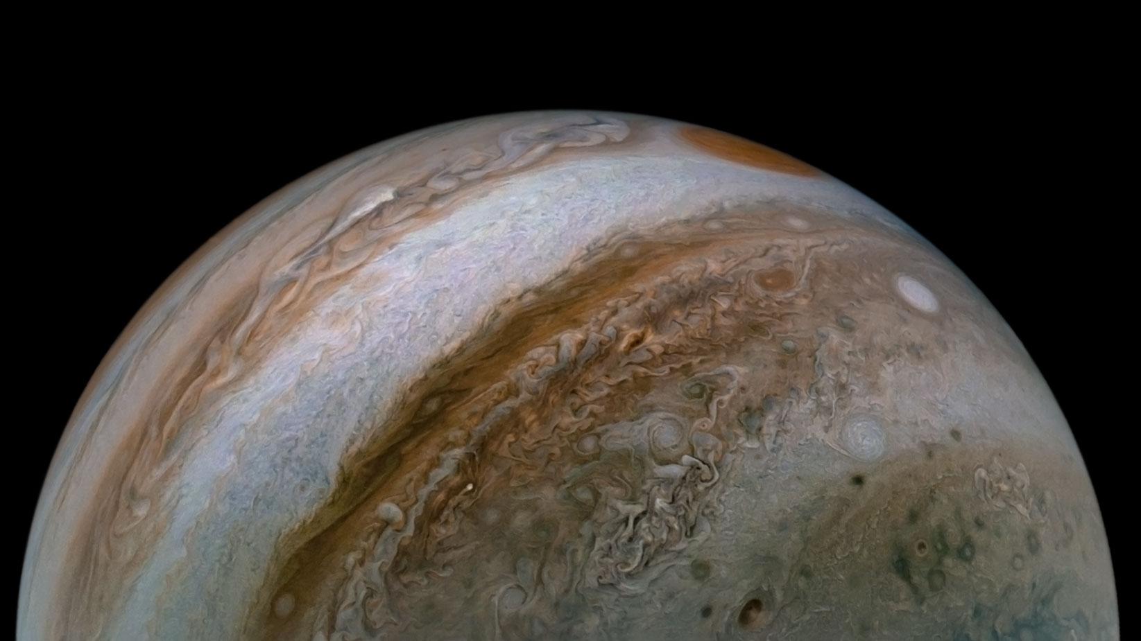 Planeta Jupiter patrundere vanturi