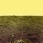 Planeta Venus galbena panorama