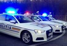 Politia Romana defectat masina