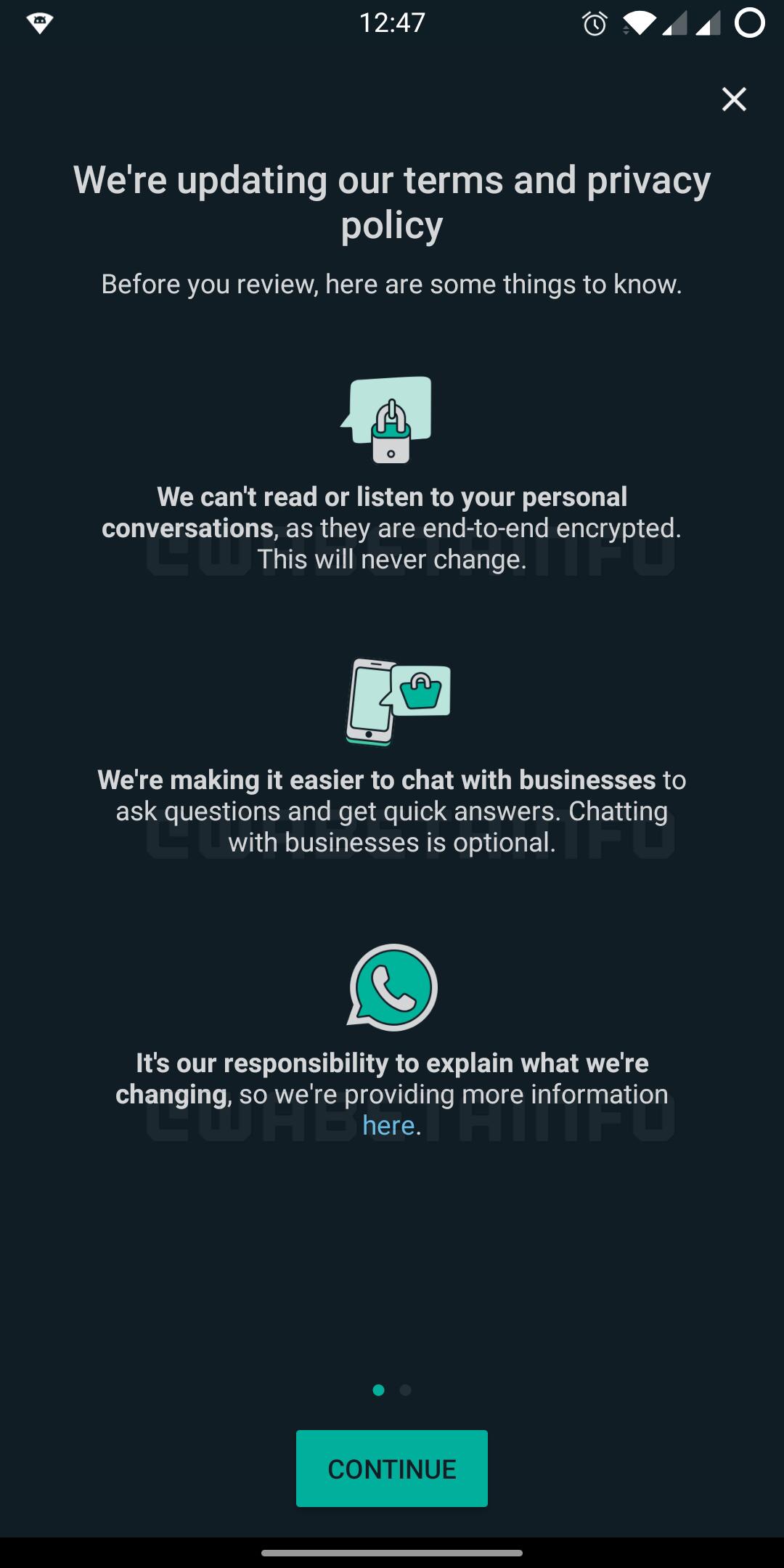WhatsApp explicatii android