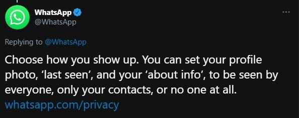 WhatsApp optional profil