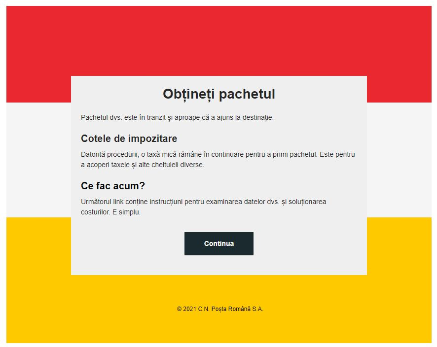Alerta Posta Romana furt bani phishing