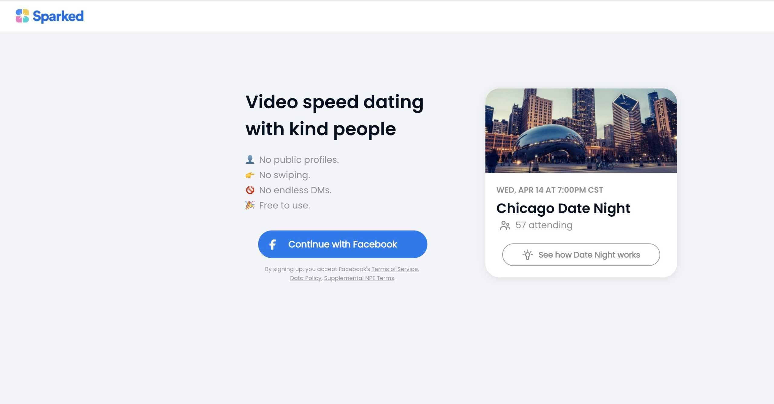 Facebook dragoste aplicatie sparked