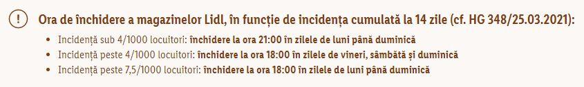 LIDL Romania incidenta inchidere