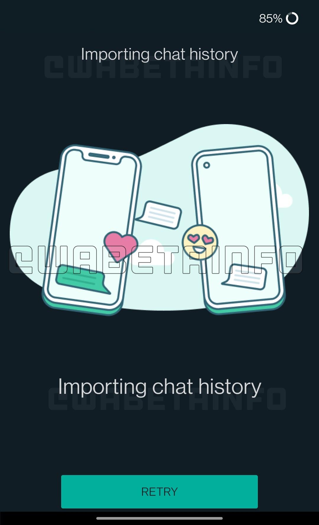 WhatsApp mutare conversatii