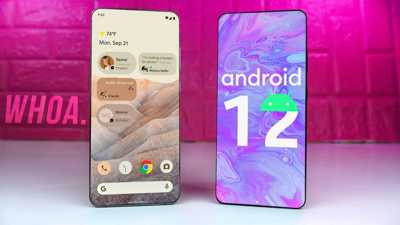 Android 12 partajare
