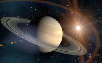 Planeta Saturn simetrie