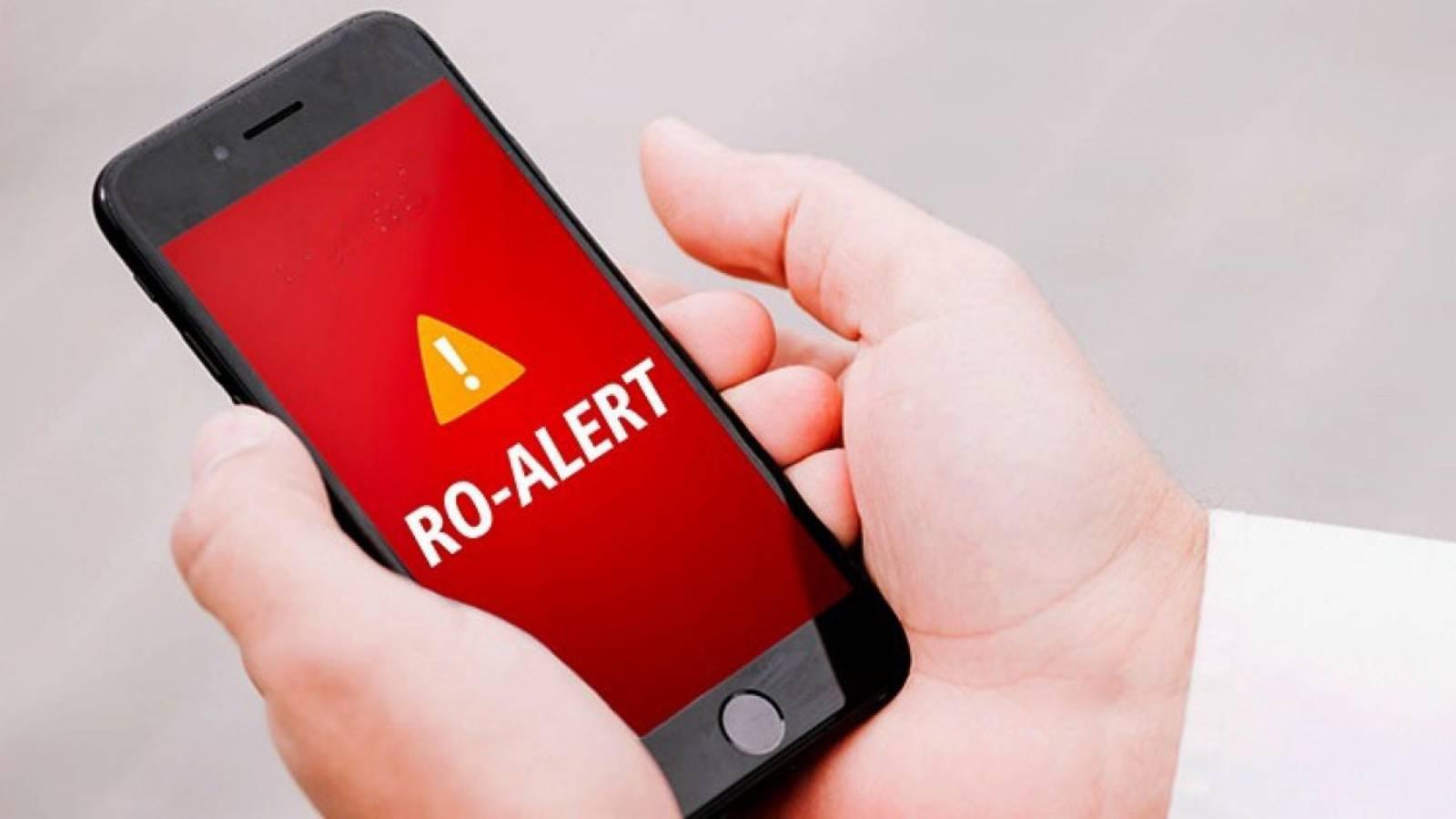 RO-ALERT Aplicatia DSU Diferente Alertele Transmise