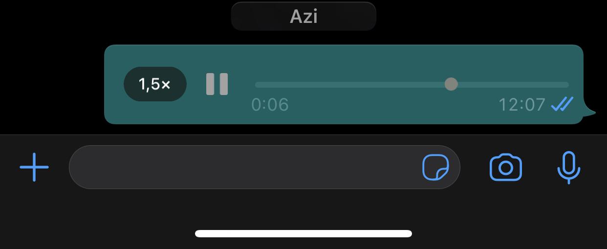 WhatsApp timp viteza mesaje vocale