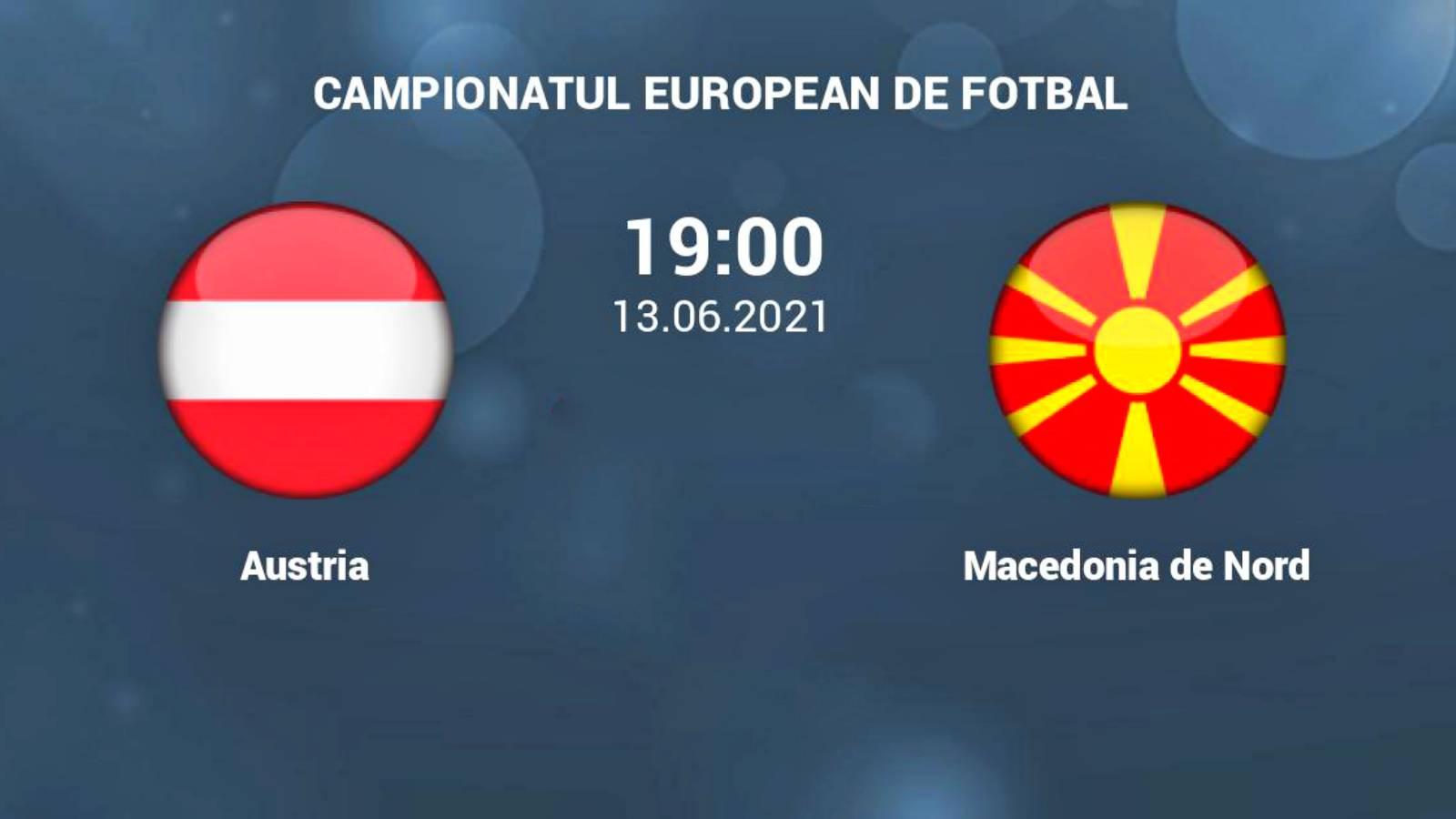 Austria - Macedonia de Nord LIVE PRO TV EURO 2020