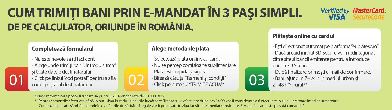 Mesajul Posta Romana Trimiti Bani Domiciliu livrare
