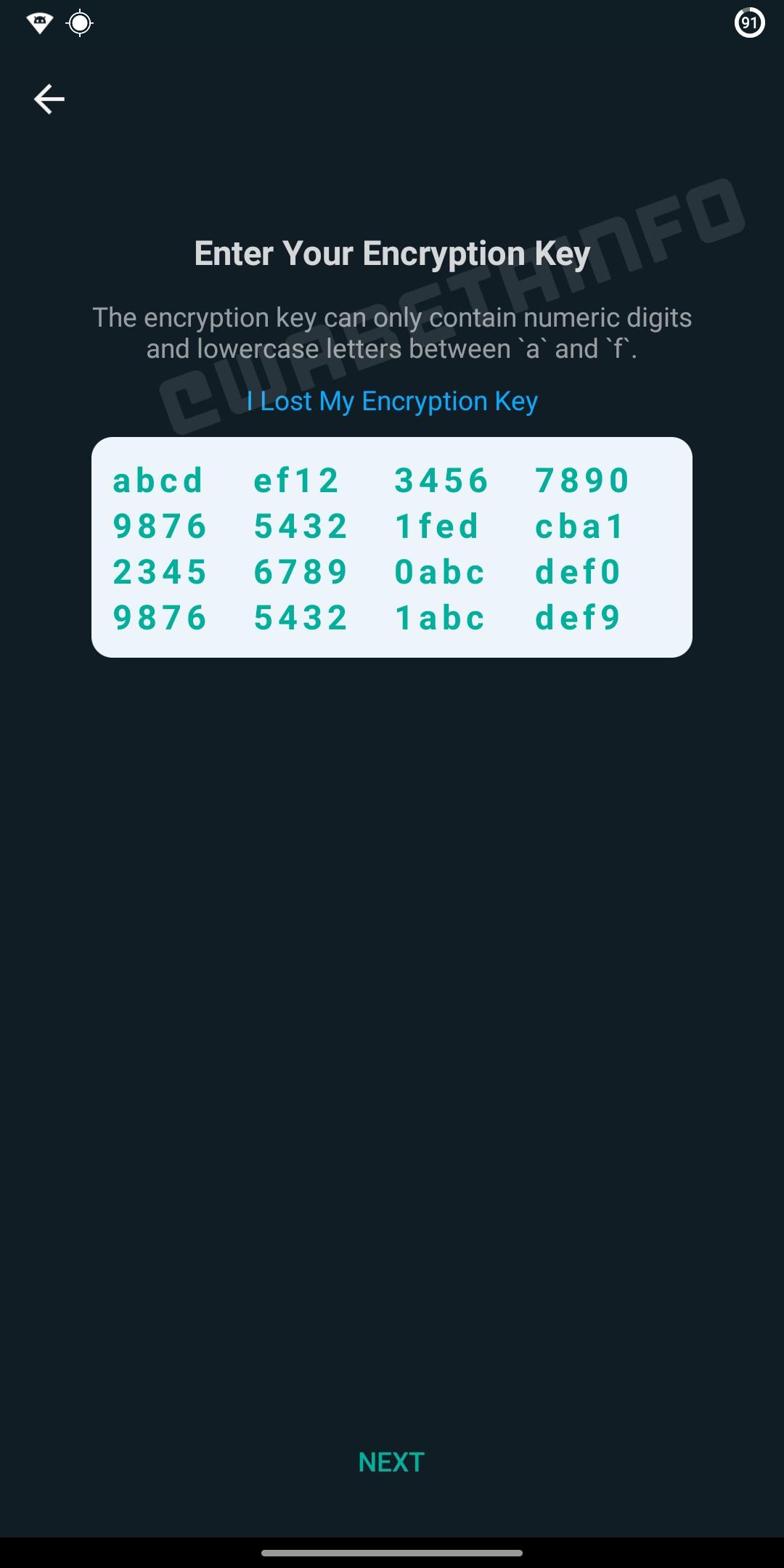 WhatsApp numeric cheie