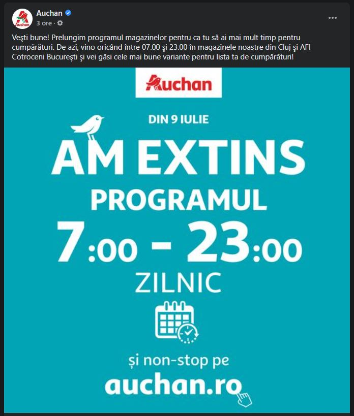 Auchan extindere program