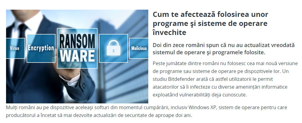 BCR Romania invechit software