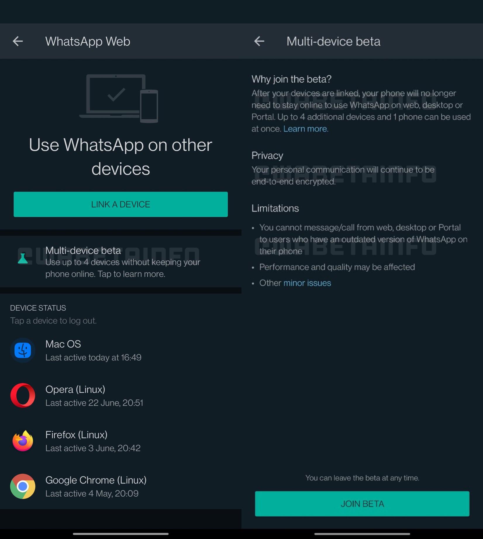 Decizia WhatsApp testare