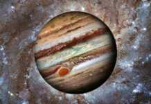 Planeta Jupiter ascuns
