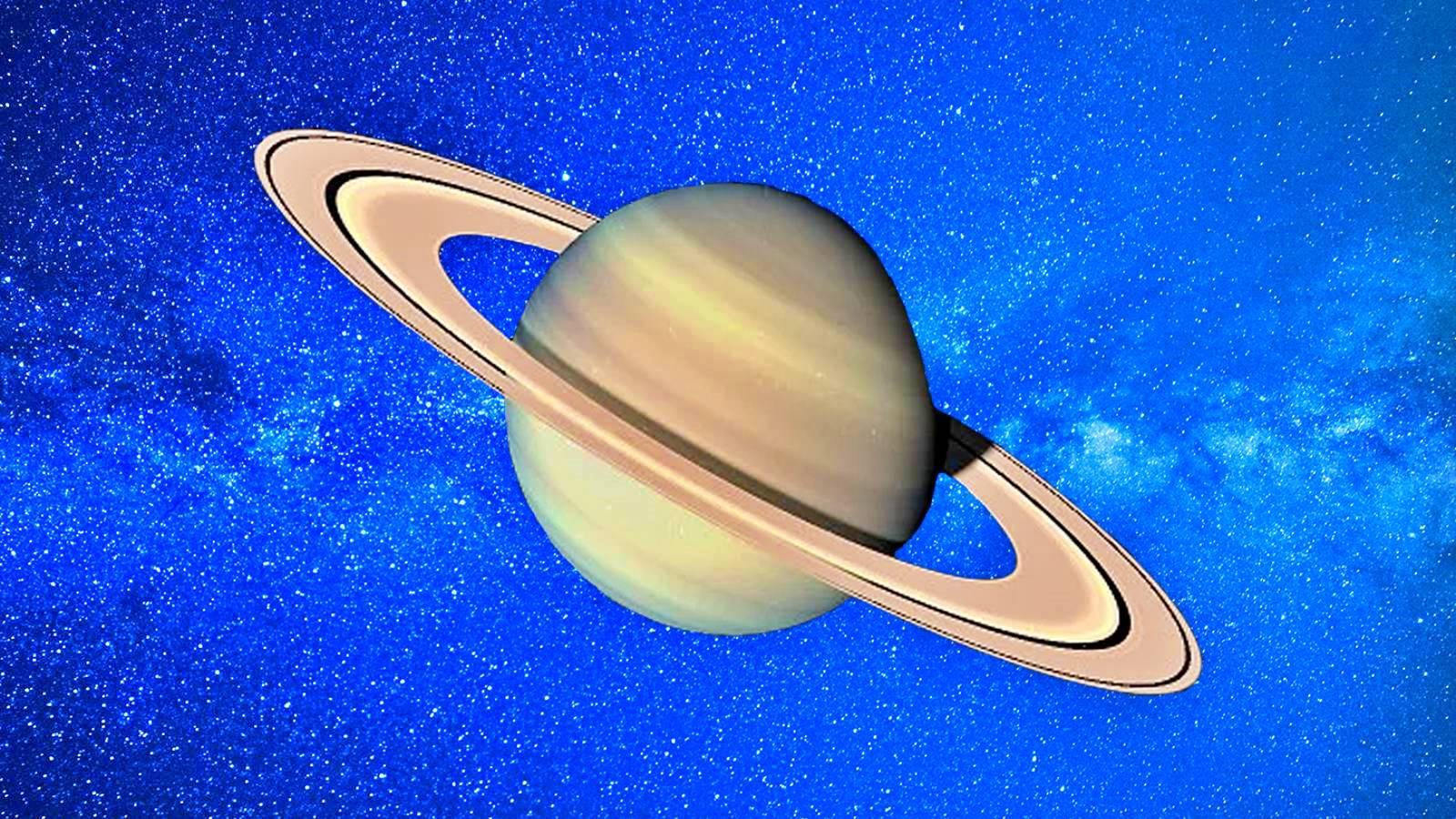 Planeta Saturn opusa