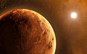 Planeta Venus noapte