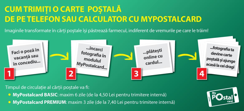 Posta Romana carti postale personalizate tutorial