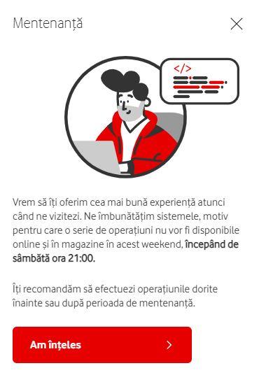 Vodafone experienta mentenanta