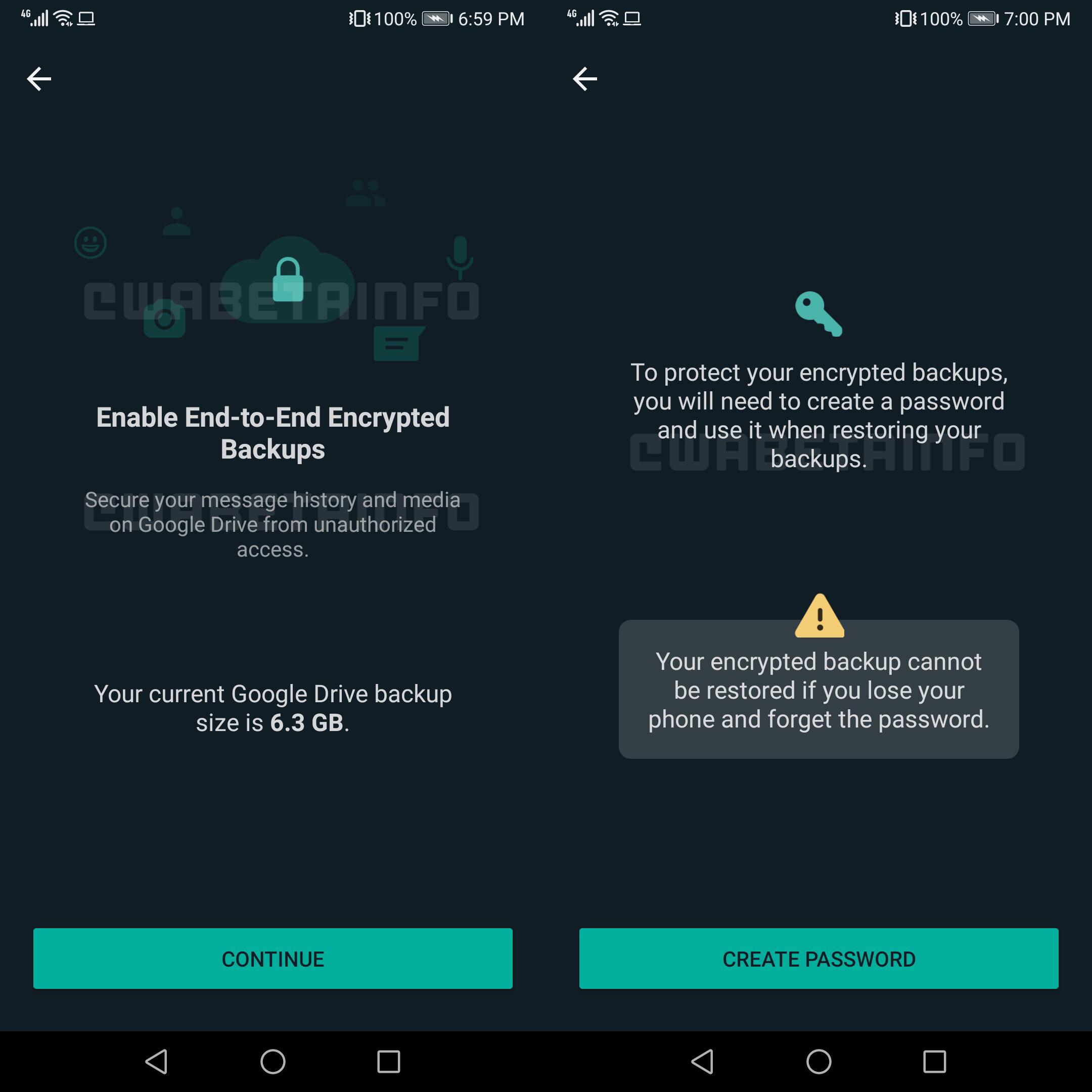 WhatsApp intarire securitate