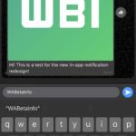 WhatsApp intern notificari