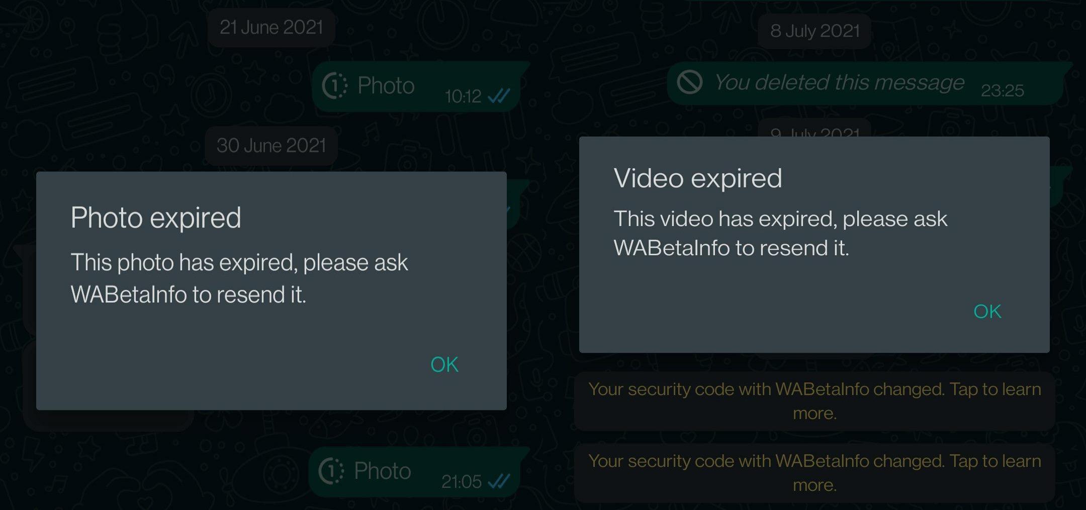 WhatsApp validitate mesaj