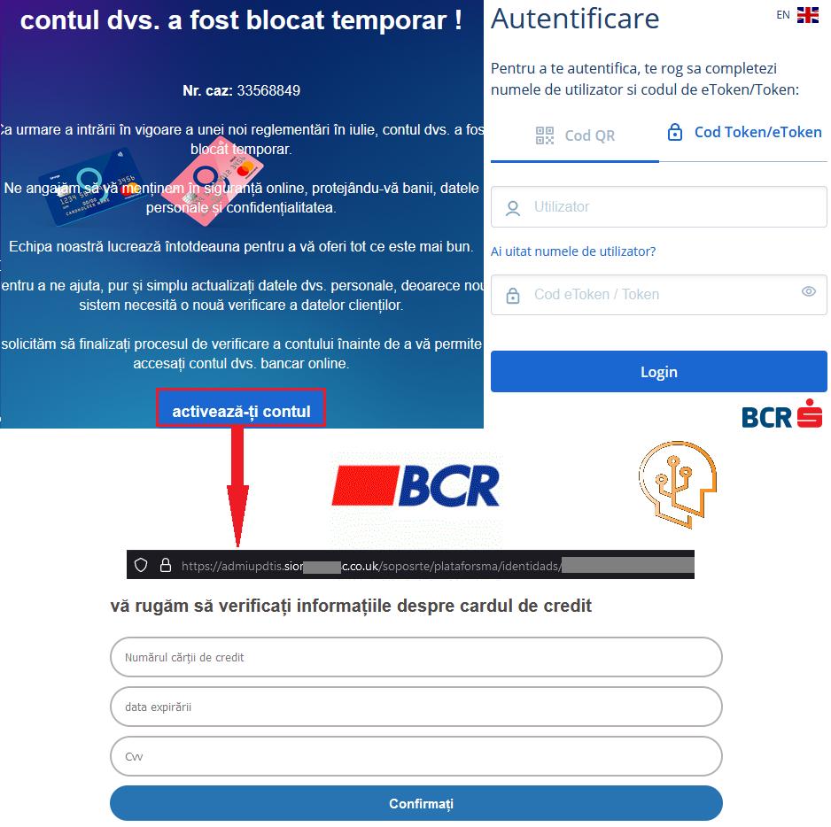 BCR Romania clonare website