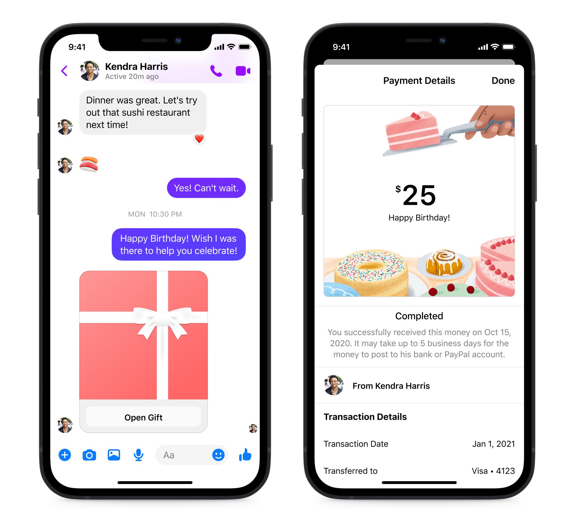 Facebook Messenger Aniversare cadou