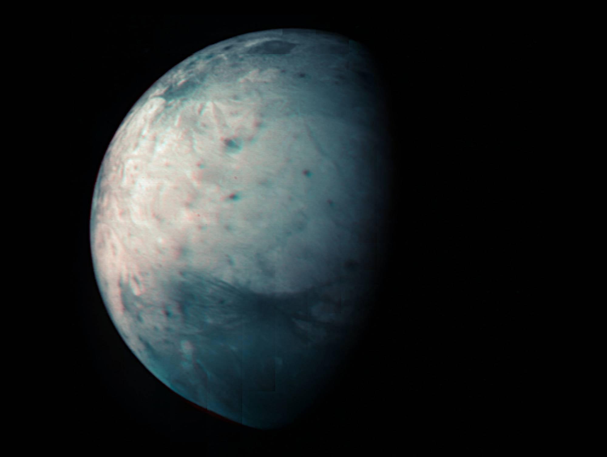 Planeta Júpiter infrarrojo la luna