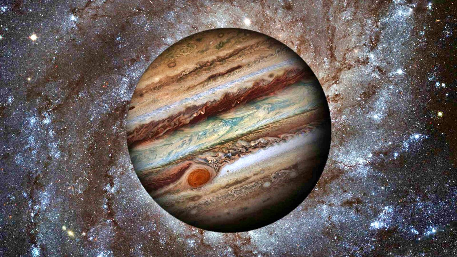 Planeta Jupiter infrarosu