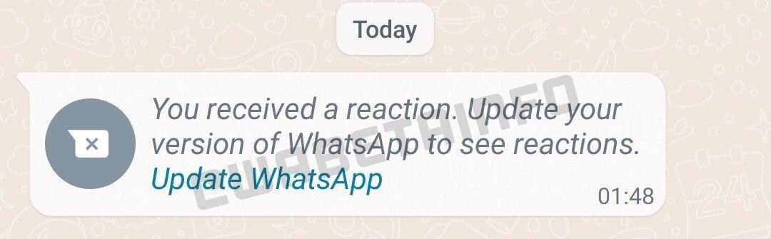 WhatsApp reactii conversatii