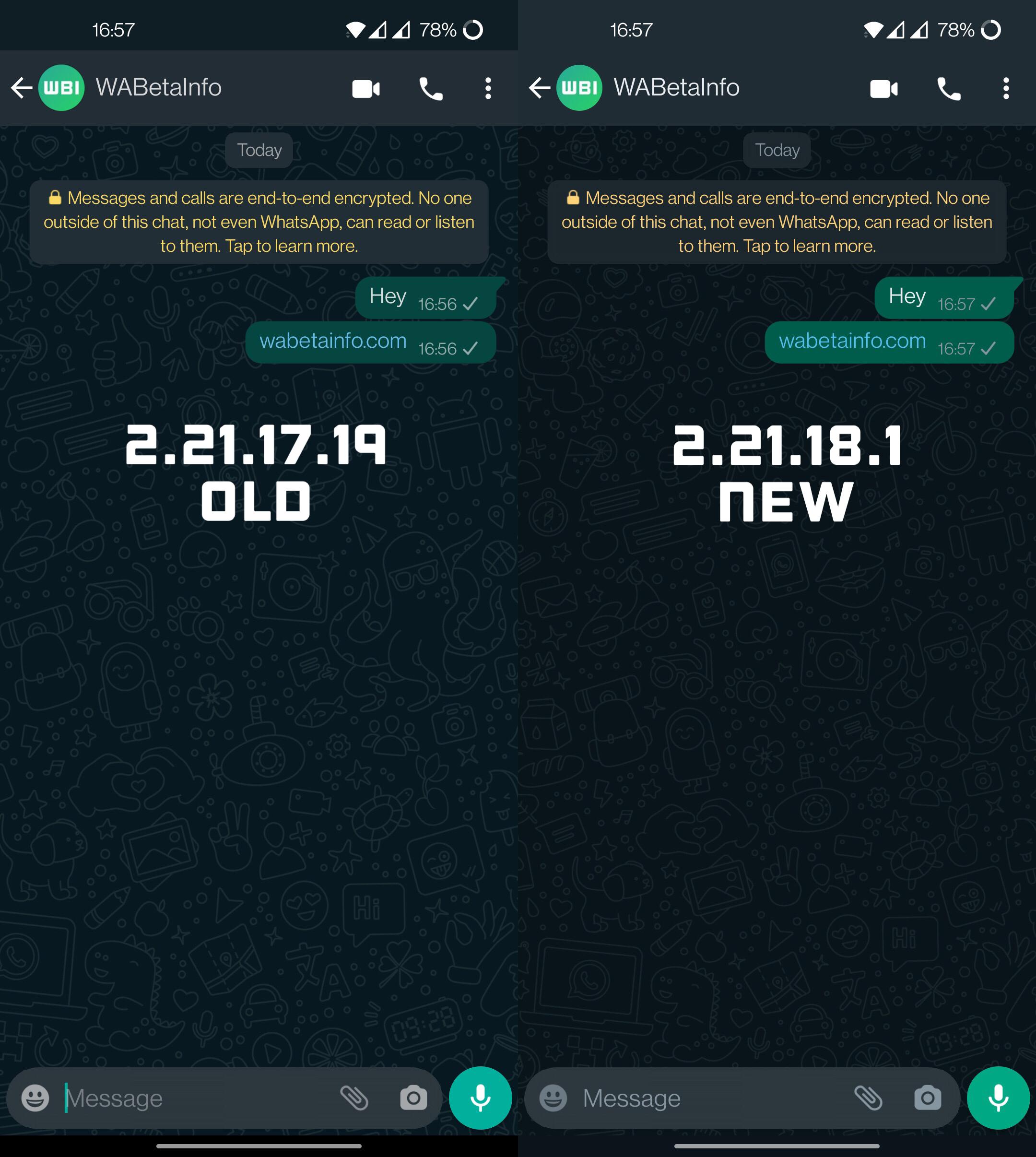 WhatsApp schema culori