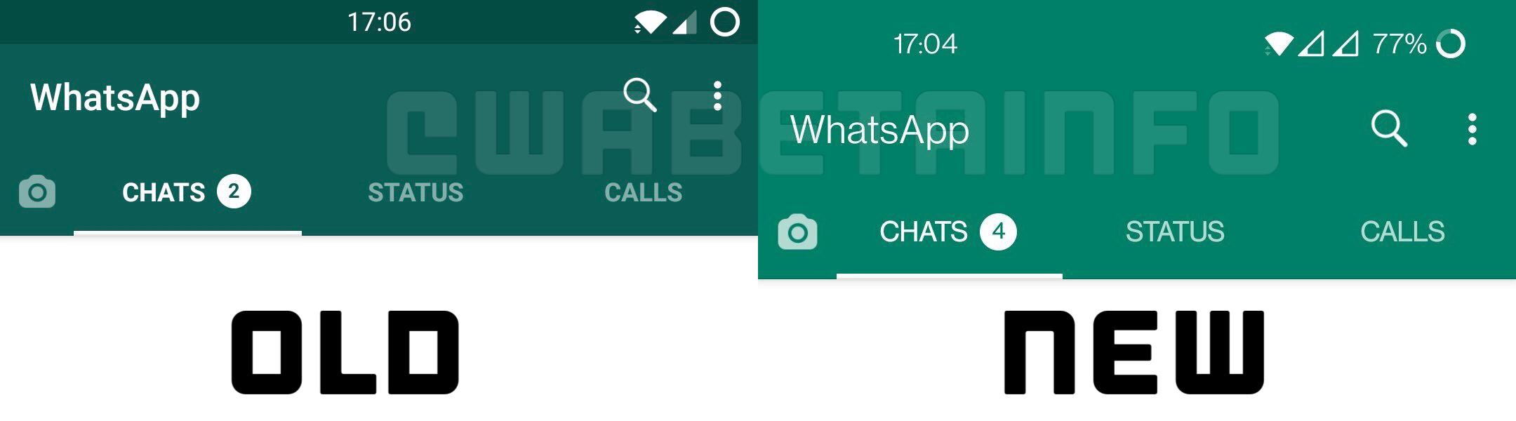 WhatsApp schema interfata