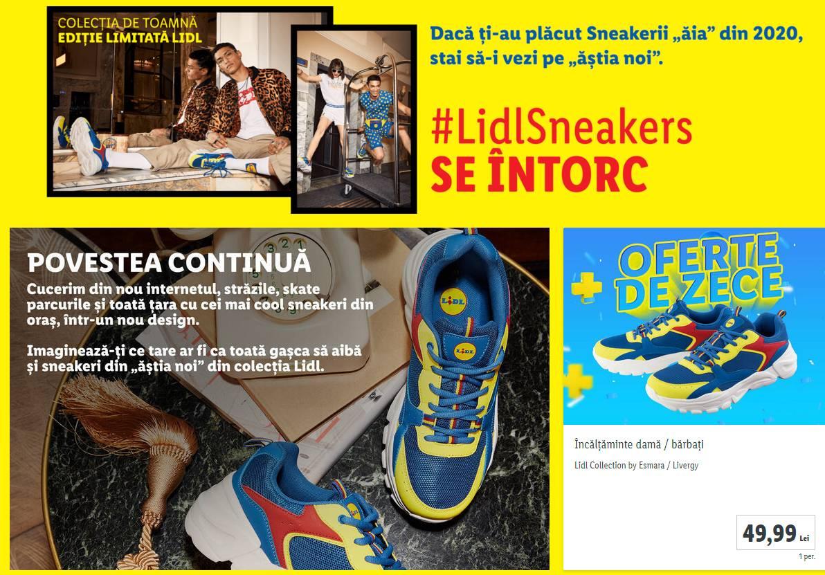 LIDL Romania pantofi sneaker