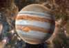Planeta Jupiter trasee